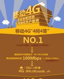 从速度到资费 一张图让你了解中国移动4G截图