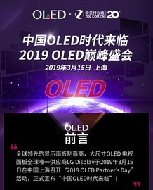 中国OLED时代来临 2019 OLED巅峰盛会
