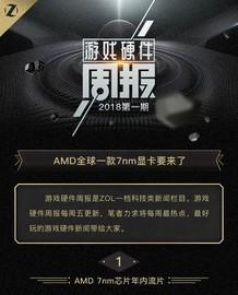 游戏硬件周报:AMD全球一款7nm显卡要来了!截图