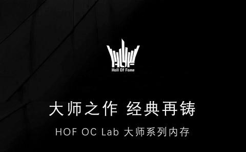 一张图读懂HOF OC LAB 大师系列内存
