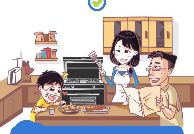 以一敌五厨房全能 一张图解读奥田集成灶