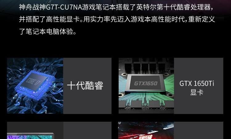 一张图看懂神舟战神G7T-CU7NA游戏本
